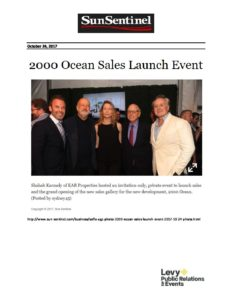 Sun Sentinel - 2000 Ocean Sales Launch Event - October 24